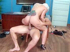 Sexy Horny Girl (Holly Heart ) With Big Tits Riding Cock In Office movie-30