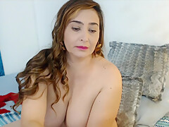 Thick-Sexy Latina Milf's Huge Tits and Pretty Bald Cunt and Beautiful Feet
