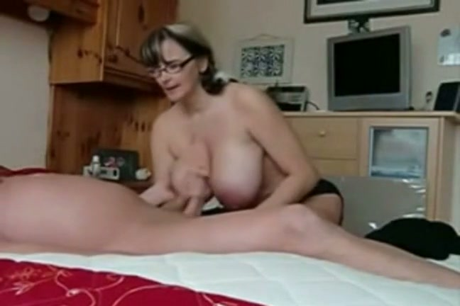 Tits and handjob video